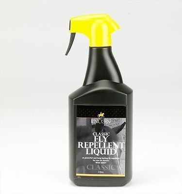 Lincoln Classic Fly Repellent Liquid - Horse Pony Care - 1 litre