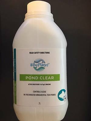 Blue Planet Pond Clear 2L Controls Algae Growth Freshwater  Ponds AM15