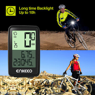 Wired/Wireless Bicycle Bike Cycle LED Computer Speedometer Odometer Meter USB