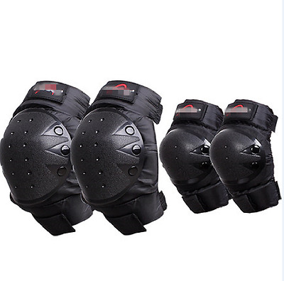 4Pcs Knee Elbow Pads Guards Gear Shin Armor Skateboard Racing Protector Skiing