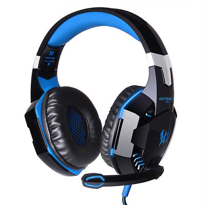 3.5mm Gaming Headset Mic LED Headphones Surround Stereo for PC Laptop PS4 Xbox
