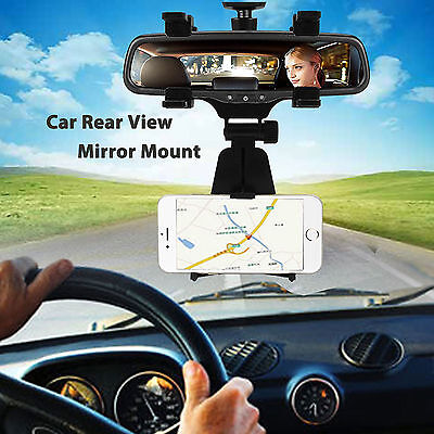 Universal Car Rear-view Mirror Mount Stand Holder Cradle For Cell Phone GPS