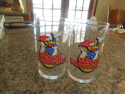 "2 Woody Woodpecker Glasses  Walter Lantz 4.5""  ID:23398"