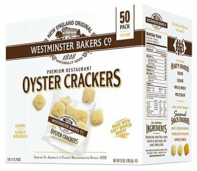 Westminster Bakers Company Premium Restaurant Oyster Crackers 25 Ounce 50 Cou...