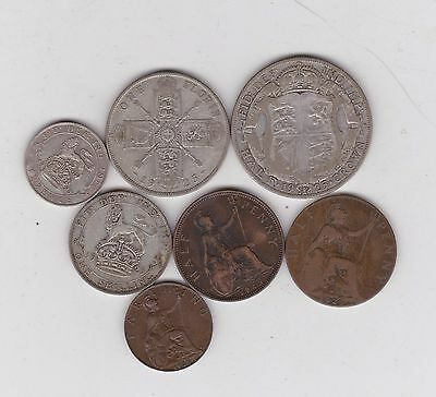 1925 George V Set Of 7 Coins In Fair Or Better Condition