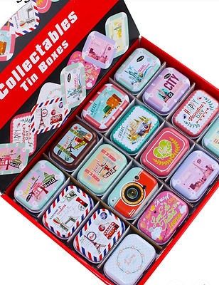 Collectables Pill Box Tin Tablet Storage Case Trinket Container Travel 2.5mm HH