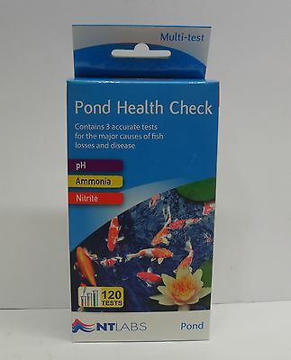 NT Labs Pond Health Check Water Test Kit - Nitrite, pH and Ammonia Koi Fish