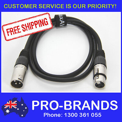 1 Metre XLR Pro QUALITY Male to Female M-F Microphone Mic Cable Lead Cord PA 1M