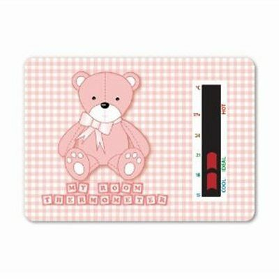 Baby Bear Room Thermometer  Pink