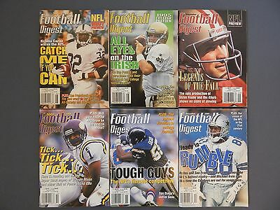 NFL_Football Digest_June 1995-October 1999_42 Issues_Good Condition_USED_RARE
