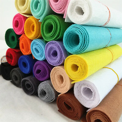 BY the Metre Plain STIFF FELT FABRIC 1mm Non Woven Scrapbooks DIY Craft Material