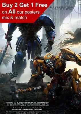 Transformers The Last Knight  2017 Movie Poster A5 A4 A3 A2 A1
