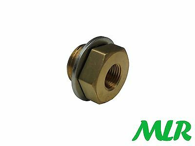 Oil Temperature Gauge Sump Plug Adaptor For 1/8Npt Gauge Sender