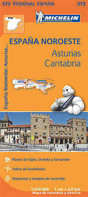 Asturias Cantabria Map - Michelin 572 - 2015 Edition - Spain