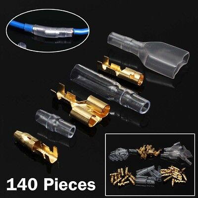 70 Set 3.9 mm Male/Female & Double Motorcycle Car Bullet Connector Terminals