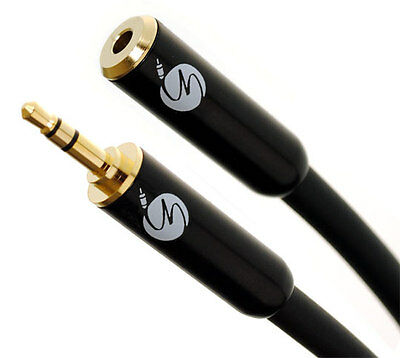 Fisual S-Flex Black Custom Made 3.5mm Jack Headphone Extension Cable