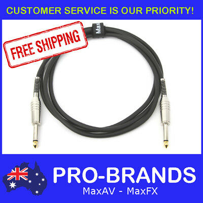 "2M PRO Electric Guitar Cable Cord Noiseless 1/4"" Jack Instrument Lead 2 Metre"
