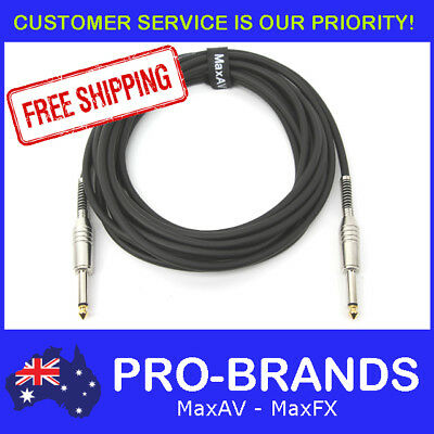 "5M PRO Electric Guitar Cable Cord Noiseless 1/4"" Jack Instrument Lead 5 Metre"