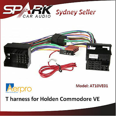 ADRO T harness aftermarket factory radio for Holden Commodore 06-11 VE AT10VE01