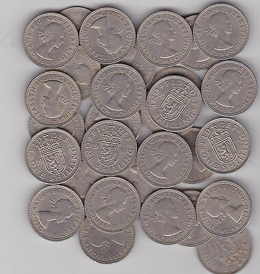 22 x 1961 SCOTTISH SHILLINGS IN VARIOUS GRADES