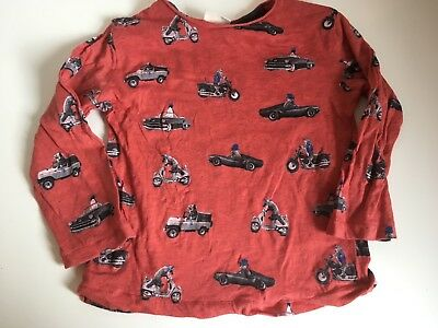 Zara Baby Boy 18-24 Months Cat In Cars T Shirt Worn Once Red Animals