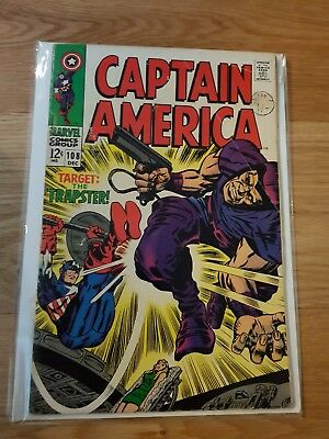 "Captain America #108 ""The Snares of the Trapster""! VG 5.0, rare"
