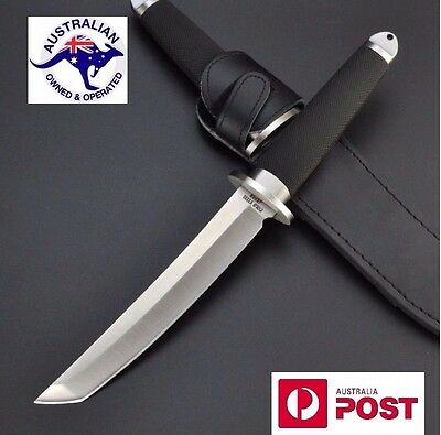NEW design Japan Steel Fixed Blade Hunting Knife with leather sheath