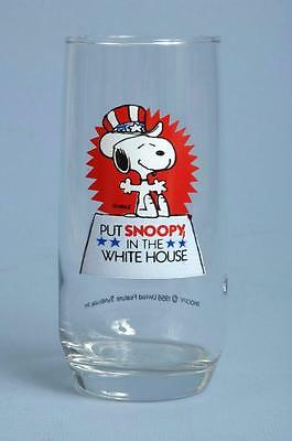 Vintage Peanuts Put Snoopy In The White House Drinking Glass Political USA