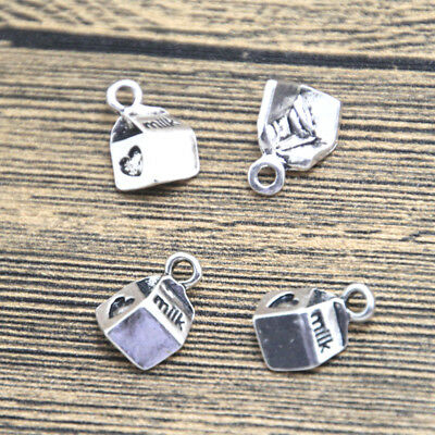 20pcs milk box Charms silver tone skeleton milk charm pendant 15x10mm