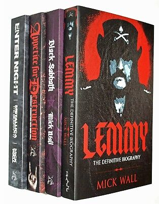 Mick Wall 4 Book Lemmy Motorhead Black Sabbath Metallica Heavy Metal Rock New