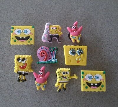 9 Spongebob themed *USA* shoe/bracelet jibbitz/jibitz pvc charms party favors