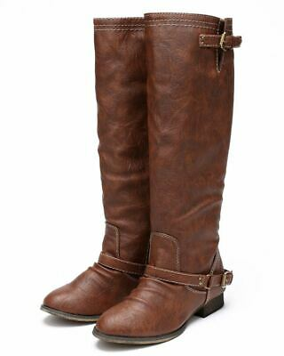 f4bae1d2afc BRECKELLES ALABAMA-12 KNEE High Riding Boots Millitary Lace Up ...