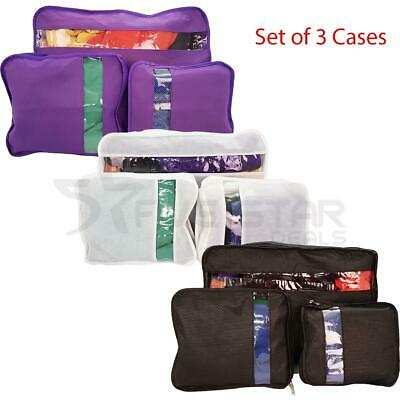 Pack Of 3 Suitcase Organiser Bag Packers Tidy Case Luggage Packing Travel Cubes
