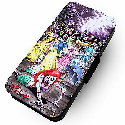 Zombie Princess Horde | Printed Faux Leather Flip Phone Cover Case | Disney #1