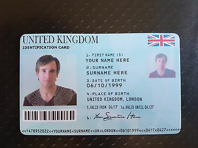 Novelty Fake ID PVC Card. For Novelty use ONLY, Prop, Prank ID.