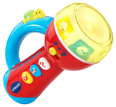 VTech Toys for 1 2 3 Year Old Girl Boys Babies Toddlers Spin & Learn Flashlight