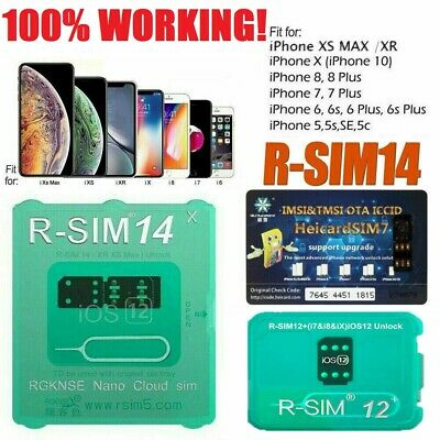RSIM 12 Newest 2018 R-SIM Nano Unlock Card For iPhone X/8/7/6/5S 4G iOS11 Lot