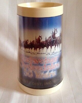 Budweiser Clydesdales Beer Mug 50 Years - Thermal Insulated Plastic