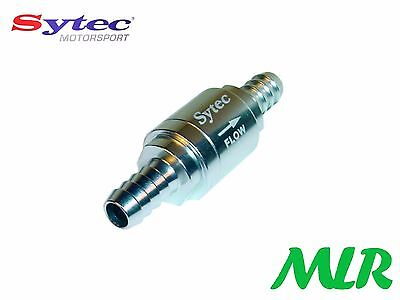 Sytec One Way Universal Fuel Valve With 8Mm Push On Tails Injection Or Carb Ayz