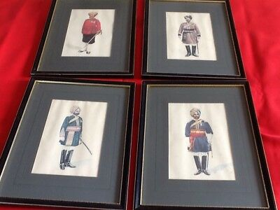 Four Indian Army Officers In Matching Frames