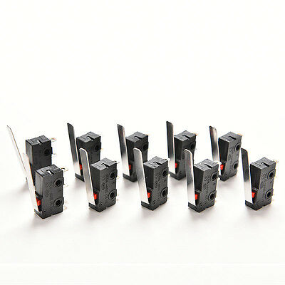 10PCS Tact Switch KW11-3Z 5A 250V Microswitch 3PIN Buckle Practical AB