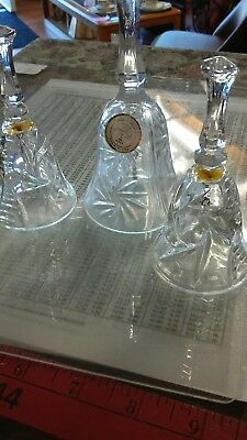 3 glass bells crystal
