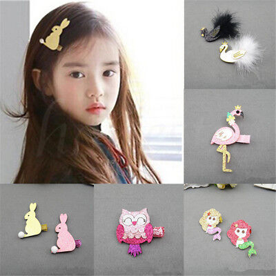 1pc Cartoon Animal Hairpins Headwear Hair Clips Accessories For Kids Baby Girls