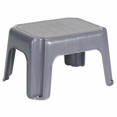 MADE in USA 200lb Mini Plastic Seat Chair Non Slipping Gray Bathroom Garage Step