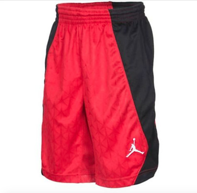 Jordan S Flight Basketball Shorts Red Black White 952501-174 Youth Boys S M L