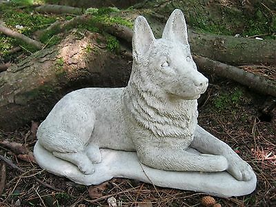 German Shepherd Statue, Concrete Dog Statues, Garden Decor, Pet Memorial,