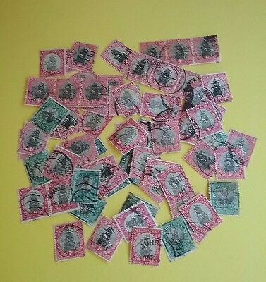 South Africa 1/2 d & 1d stamps used