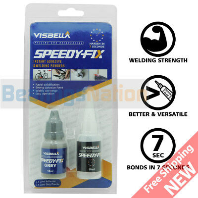 7 Seconds Speedy Fix Filling Reinforcing Adhesive Grey Resin Powder Welding