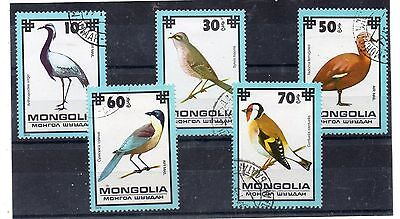 Mongolia Fauna Aves Valores del año 1979 (DH-992)