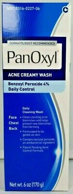 Panoxyl 4 Acne Foaming Face Wash 6oz -Expiration Date 06-2019-
